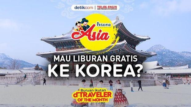 Mau ke Korea Gratis? Ayo Ikut d'Traveler of The Month November!
