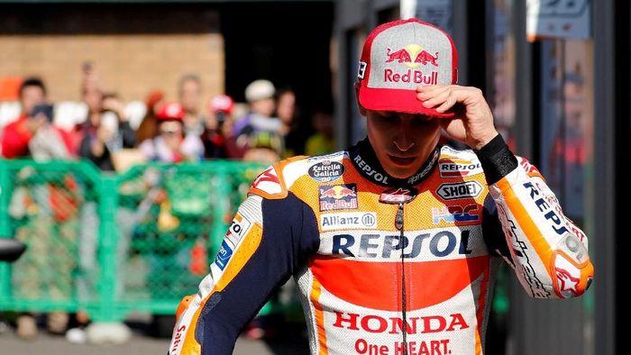 Marc Marquez tak puas dengan hasil yang dia raih di hari pertama MotoGP Malaysia (REUTERS/Toru Hanai/File Photo)