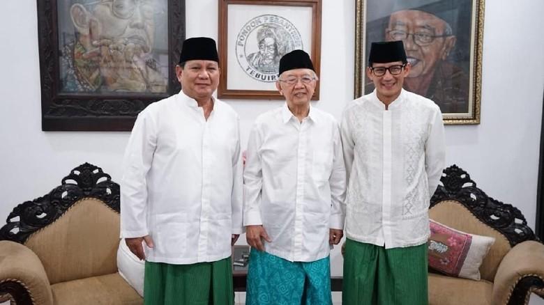 Prabowo-Sandi Bahas Ekonomi Bareng Gus Solah hingga Kwik Kian Gie