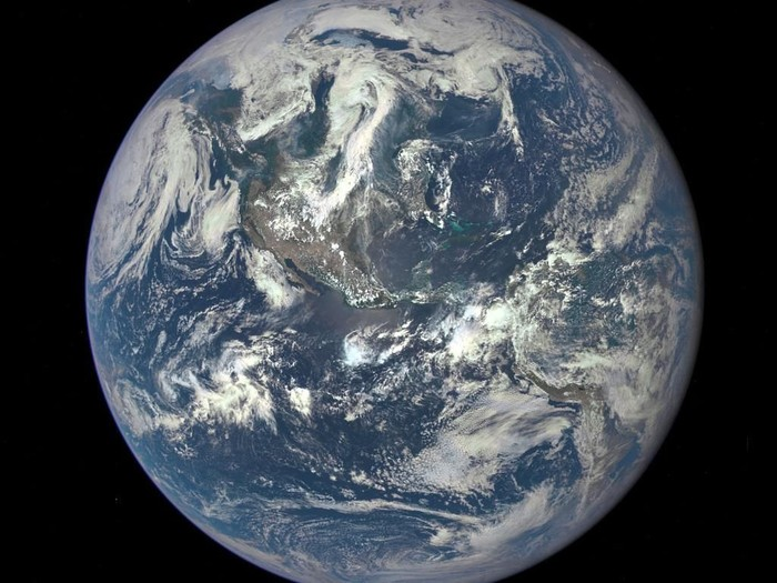 IN SPACE - In this handout provided by the National Aeronautics and Space Administration, Earth as seen from a distance of one million miles by a NASA scientific camera aboard the Deep Space Climate Observatory spacecraft on July 6, 2015. (Photo by NASA via Getty Images)