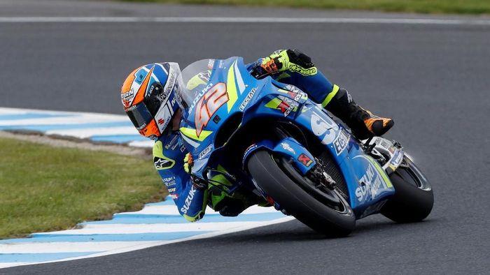 Alex Rins jadi pebalap tercepat di sesi latihan bebas kedua MotoGP Malaysia (Foto: Brandon Malone/Reuters)