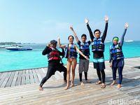 d'Traveler yang akan menikmati snorkeling