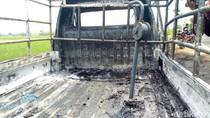 Pikap Angkut BBM Terbakar di Ponorogo, Satu Motor Hangus Tersambar
