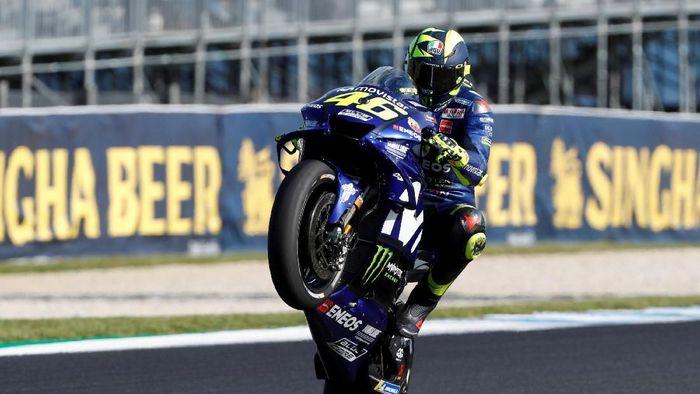 Valentino Rossi jalani salah satu musim terburuknya di MotoGP 2018 (Brandon Malone/Reuters)