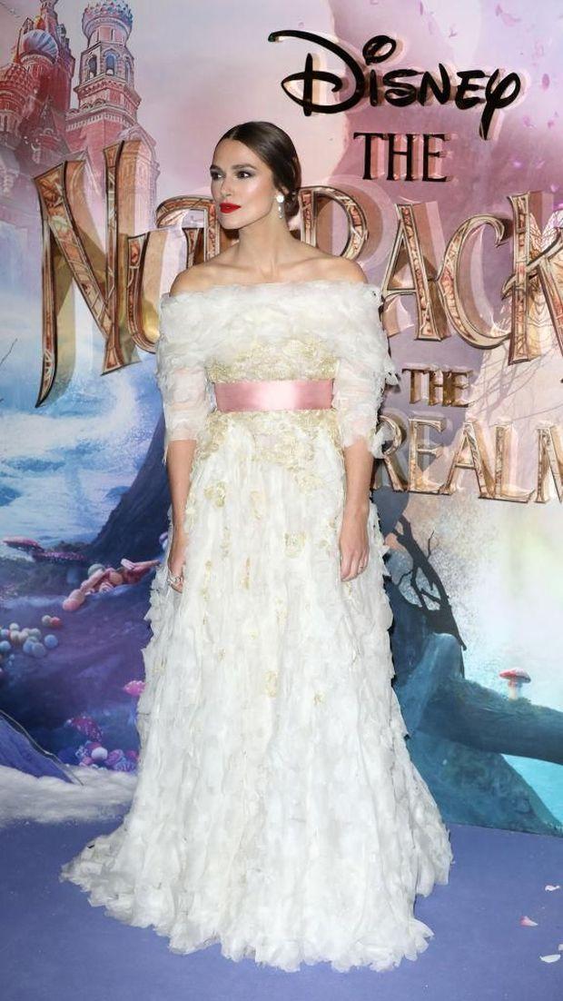 Keira Knightley di premiere film 'The Nutcracker and the Four Realms'.