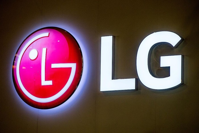 BARCELONA, SPAIN - FEBRUARY 22:  A logo sits illuminated outside the LG pavilion on the opening day of the World Mobile Congress at the Fira Gran Via Complex on February 22, 2016 in Barcelona, Spain. The annual Mobile World Congress hosts some of the worlds largest communications companies, with many unveiling their latest phones and wearables gadgets.  (Photo by David Ramos/Getty Images)