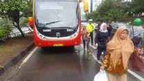Kecelakaan Bus TransJ dan Motor di Semanggi, 1 Orang Tewas