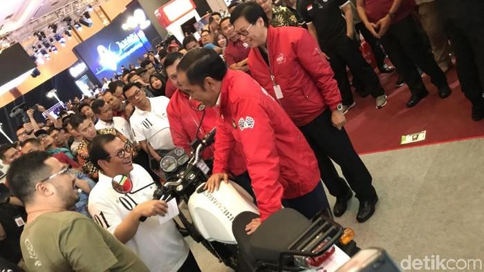 Presiden Jokowi di IMOS 2018 (Ray Jordan/detikcom)