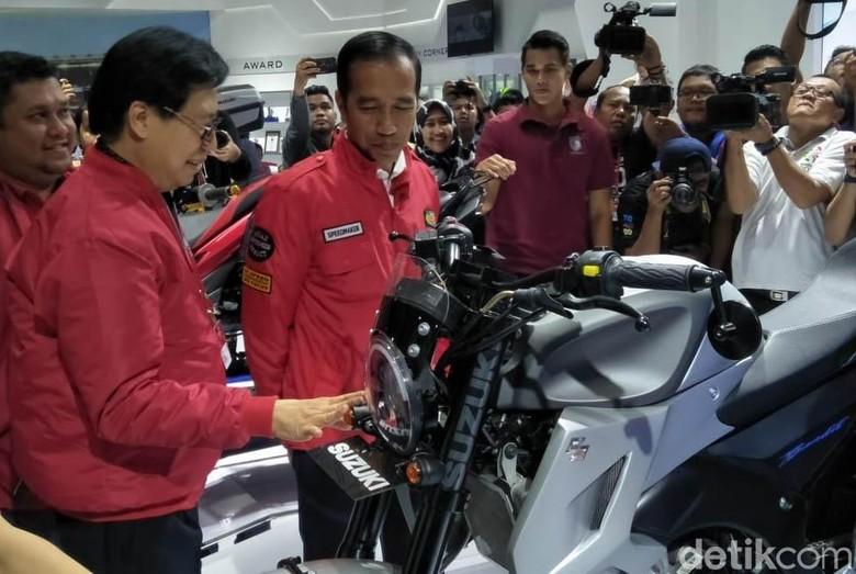 Saat Jokowi Sambangi IMOS 2018 Foto: Ruly Kurniawan