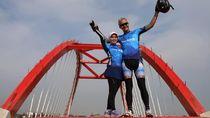 Lepas Peserta Tour de Borobudur, Ganjar Pamer Tol Semarang-Batang