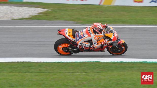 Marc Marquez sempat memasang target selalu meraih podium di tiap seri MotoGP 2018.