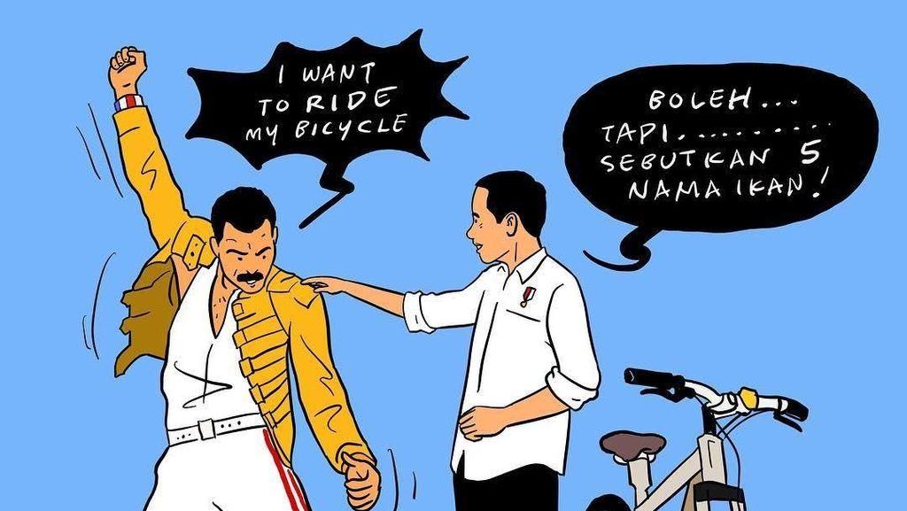 Viral! Ilustrasi Bergaya Freddie Mercury Karya Hari Prast Dijiplak