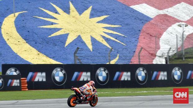 Marc Marquez finis pertama untuk kali kesembilan pada MotoGP 2018 di Sirkuit Sepang.