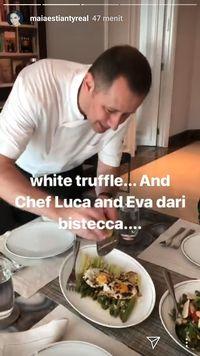 Mewah! Chef Luca Memasak Pasta Bertabur White Truffle Untuk Maia Estianty