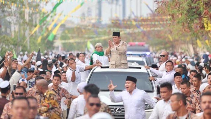 Foto: Prabowo hadiri Haul Mbah Priuk. (Dok Gerindra/detikcom)