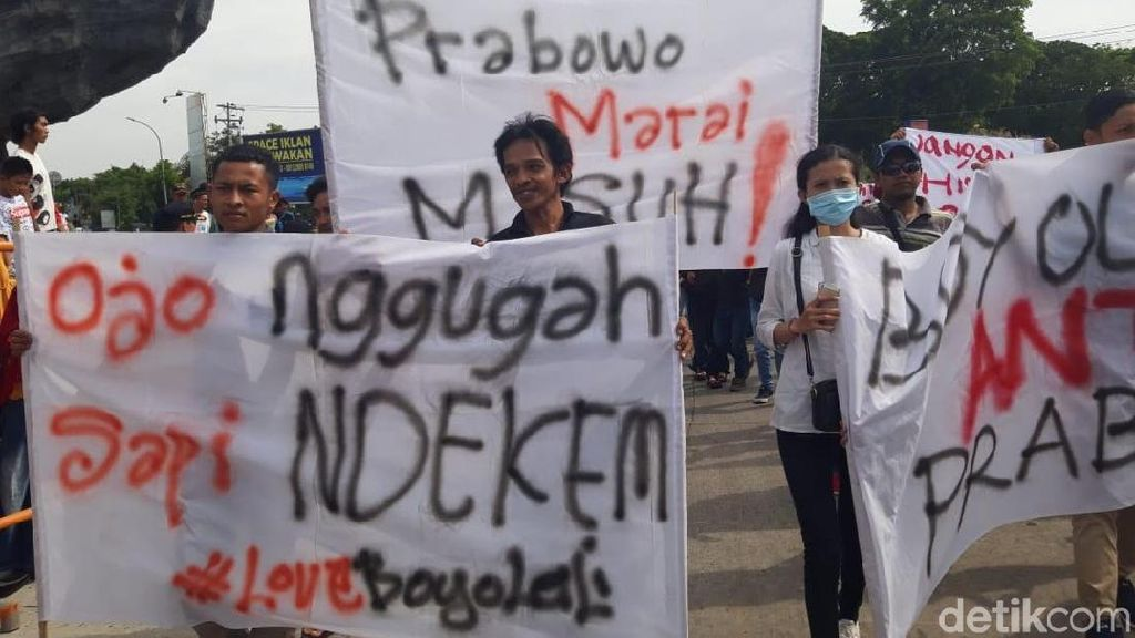 Penampakan Massa Aksi Bela Tampang Boyolali