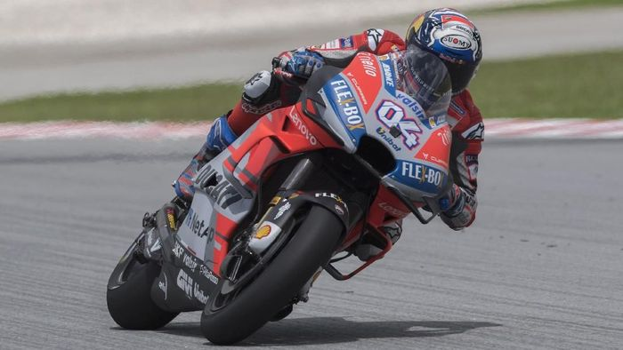 Andrea Dovizioso tercepat kedua di tes MotoGP Jerez. (Foto: Mirco Lazzari gp/Getty Images)