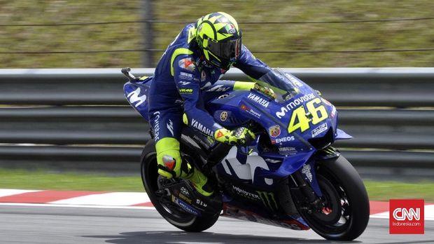 Valentino Rossi gagal meraih kemenangan di MotoGP 2018.