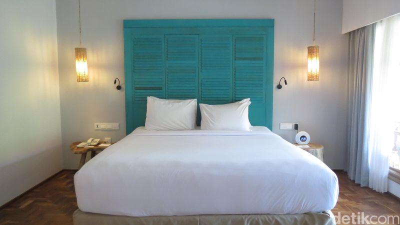 Pilihan hotel di Pulau Dewata semakin kreatif. Gaya akomodasi yang unik ditawarkan Hotel Sol beach house Bali Benoa di Tanjung Benoa, Bali (Fitraya/detikTravel)