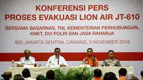 Menhub hingga Polri Ikut Konferensi Pers Evakuasi Lion Air PK-LQP