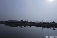 Belum rampung 100 persen, Kolam Retensi Sudah Terisi Air Hujan