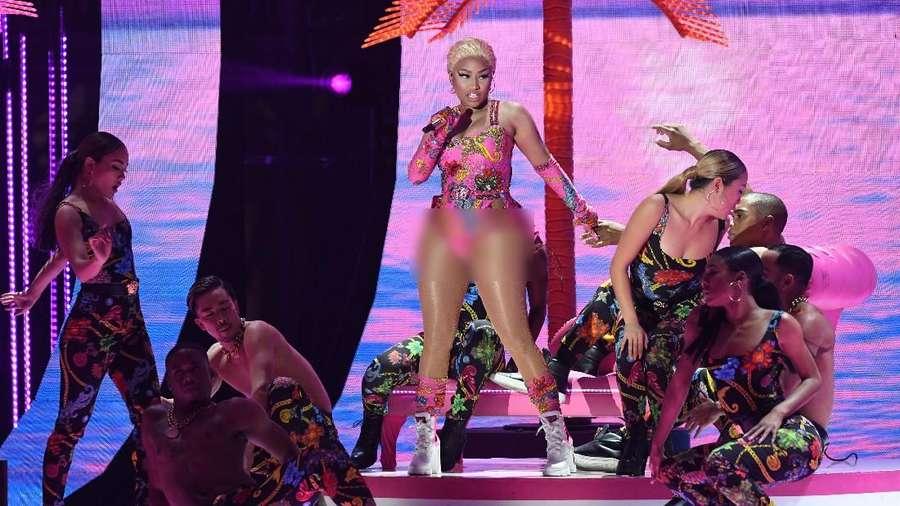 Aksi Nicki Minaj di MTV EMAs 2018