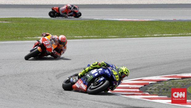 Marquez Tolak Jabat Tangan Rossi di MotoGP 2019