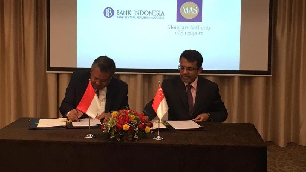 BI Jalin Kerja Sama Swap dengan Bank Sentral Singapura