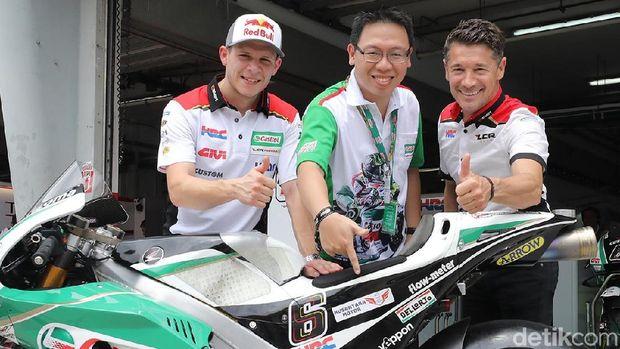 Ada Nama Bengkel Indonesia di Motor MotoGP LCR Honda