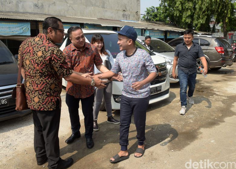 Ruben Onsu saat ditemui di Rutan Pondok Bambu, Jakarta Timur pada Selasa (6/11).Pool/Noel/detikFoto.