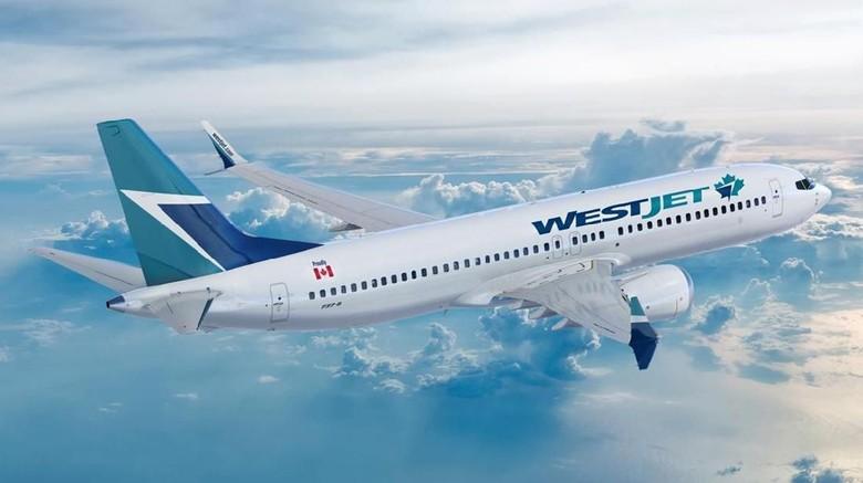 Foto: Ilustrasi maskapai WestJet (WestJet)