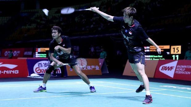 Tontowi Ahmad/Liliyana Natsir kalah di babak perempat final Fuzhou China Terbuka.