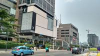Suasana Trotoar MRT Jakarta