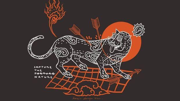 Mengenal Seniman Kuncir Sathya Viku yang Usung Budaya Rerajahan Bali