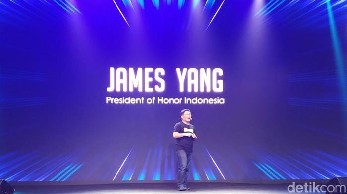 Presiden Honor Indonesia James Yang bicara soal ponsel BM (Foto: Muhamad Imron Rosyadi/detikINET)