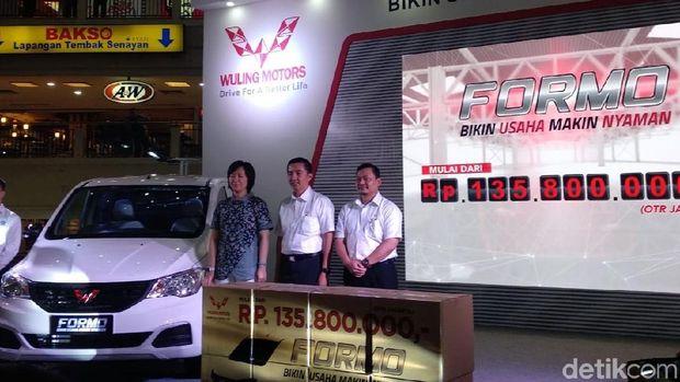 Harga yang ditawarkan untuk Wuling Formo mulai Rp 135,8 juta On The Road Jakarta.