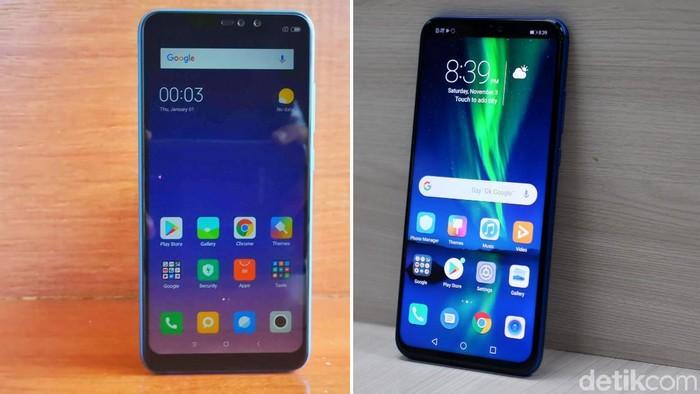 Yuk membandingkan Redmi Note 6 Pro dengan Honor 8X yang lahir bareng di Indonesia (Foto olahan: Adi Fida Rahman/detikINET)