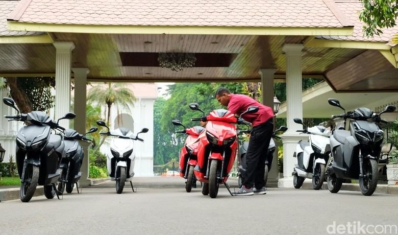 Motor Gesits di Istana Presiden (Foto: Andhika Prasetia)