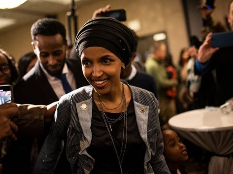 NEW YORK, NY - APRIL 21:  Ilhan Omar attends the premiere of