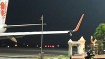 Lion Air: Petugas Bandara Minta Maaf soal Sayap Pesawat Tabrak Tiang