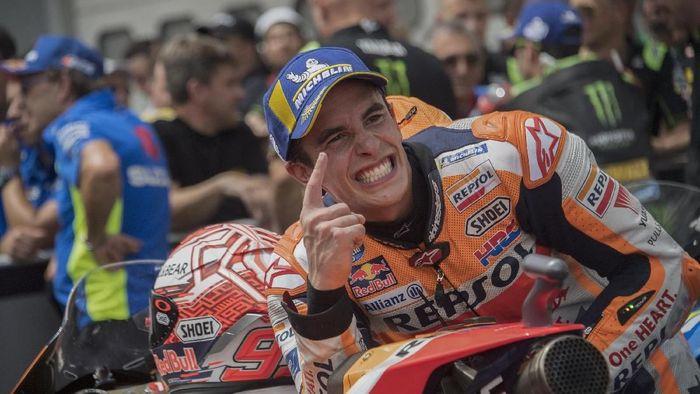 Marc Marquez ragu bisa menyamai rekor gelar Giacomo Agostini. (Foto: Mirco Lazzari gp/Getty Images)