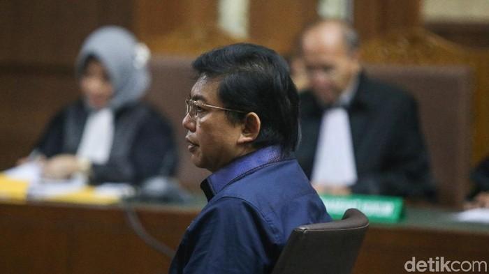 Pengacara Lucas ketika menjalani persidangan di Pengadilan Tipikor Jakarta (Foto: Ari Saputra/detikcom)