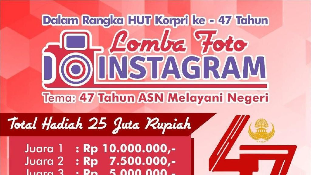 Kemenpar Gelar Lomba Foto Instagram Berhadiah Rp 25 Juta