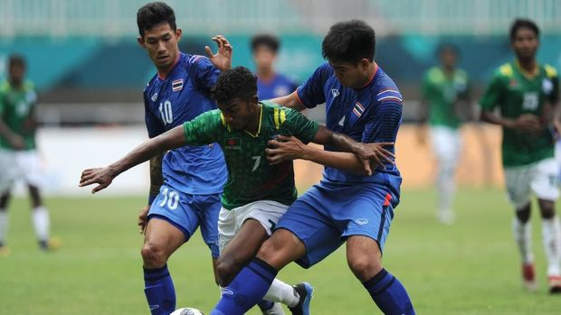 Timnas Thailand saat berlaga di Asian Games 2018. (