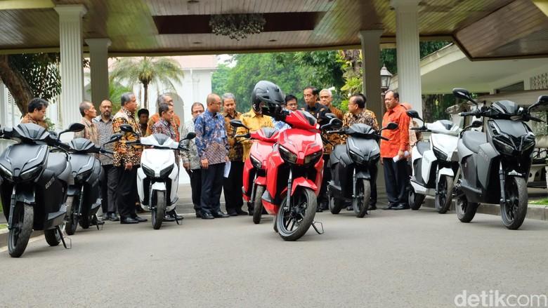 Motor Gesits di Istana Negara. Foto: Andhika Prasetia