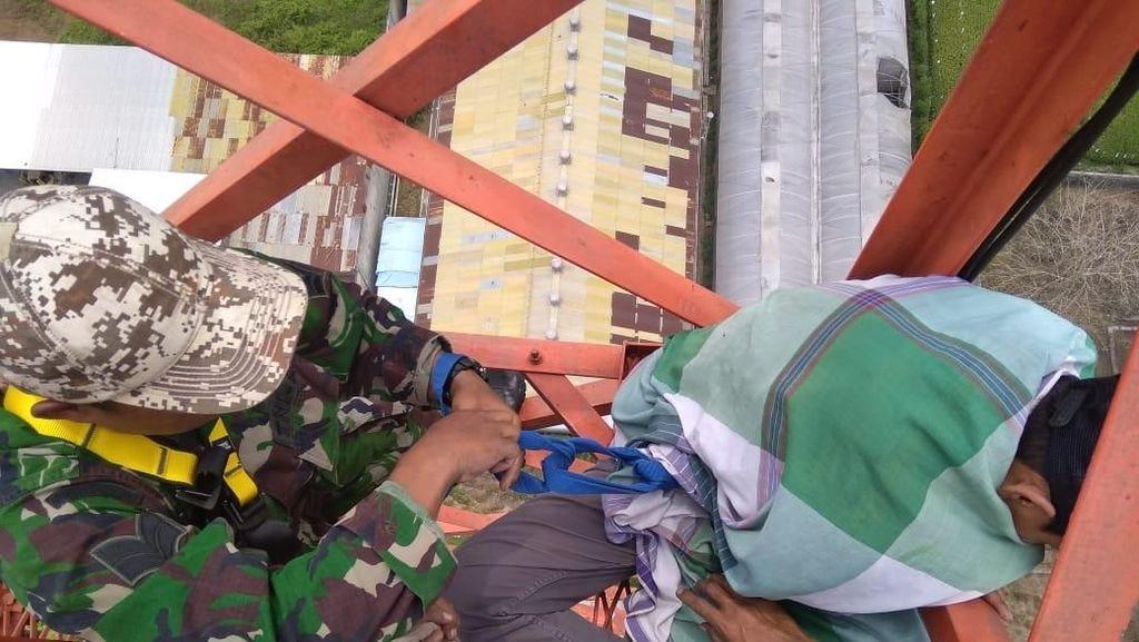 Pria Panjat Tower di Malang Depresi Ditinggal Istri