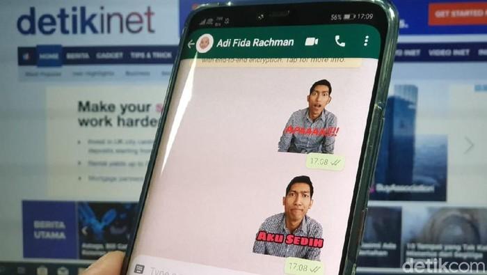 Cara bikin stiker WhatsApp pakai foto sendiri (Foto: Adi Fida Rahman/detikINET)