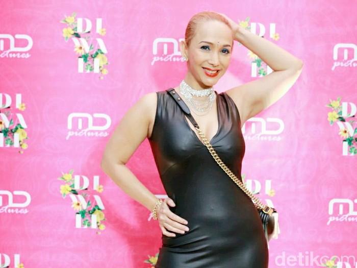 Kiki Fatmala saat ditemui di acara MD Entertainment.