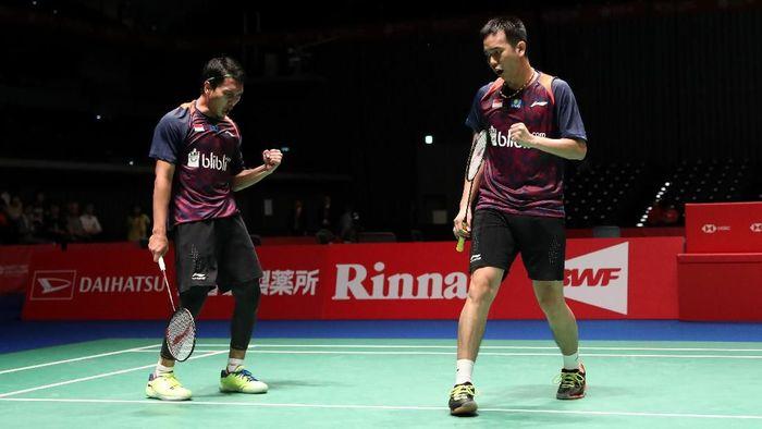 Mohammad Ahsan/Hendra Setiawa lolos ke babak perempatfinal Fuzhou China Terbuka 2018 (Foto: dok. Humas PBSI)