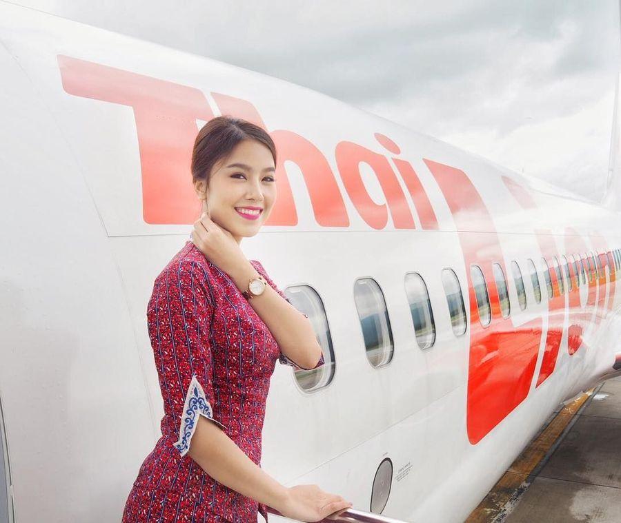 Inilahh Gibby Pimchanok Jitchoo, gadis cantik yang menang kontes kecantikan Miss Thailand 2014. Kini, Gibby berprofesi sebagai pramugari Lion Air Thailand. (Instagram/@gibby_p)